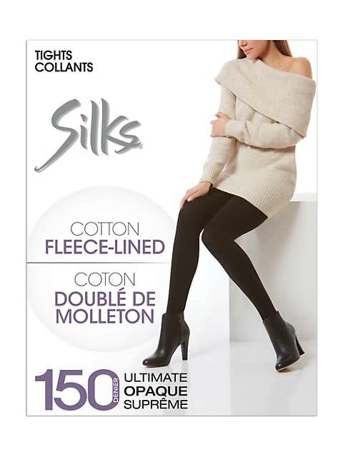 Silks Cotton Fleece Lined Tights
