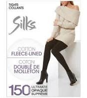 Silks cotton fleece-lined tights