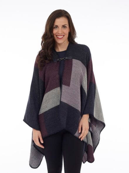 DKR Colour blocking cape with buckle