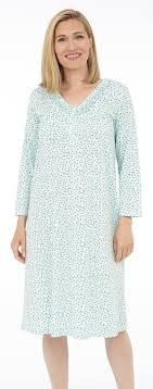 V neck, 3/4 sleeve nightgown