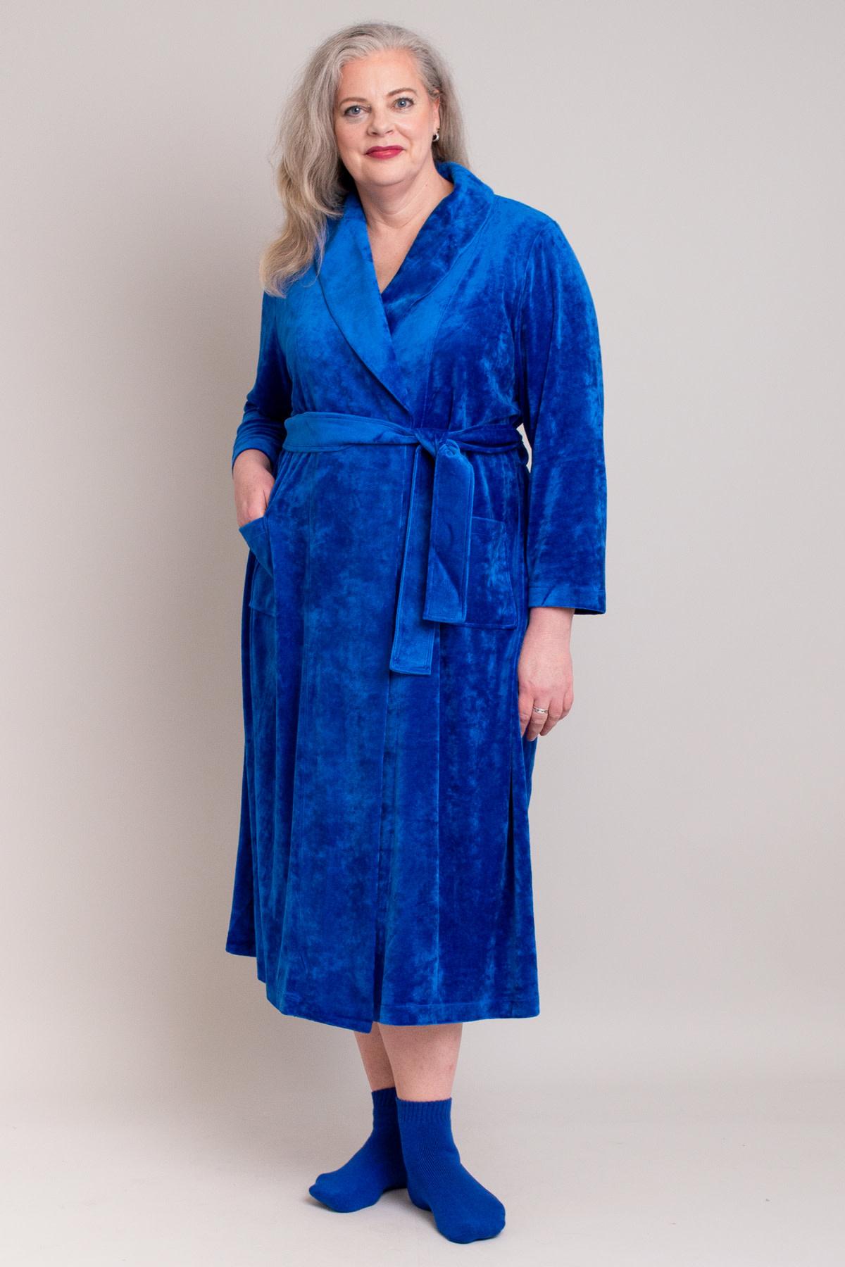 Blue Sky Velvet Robe