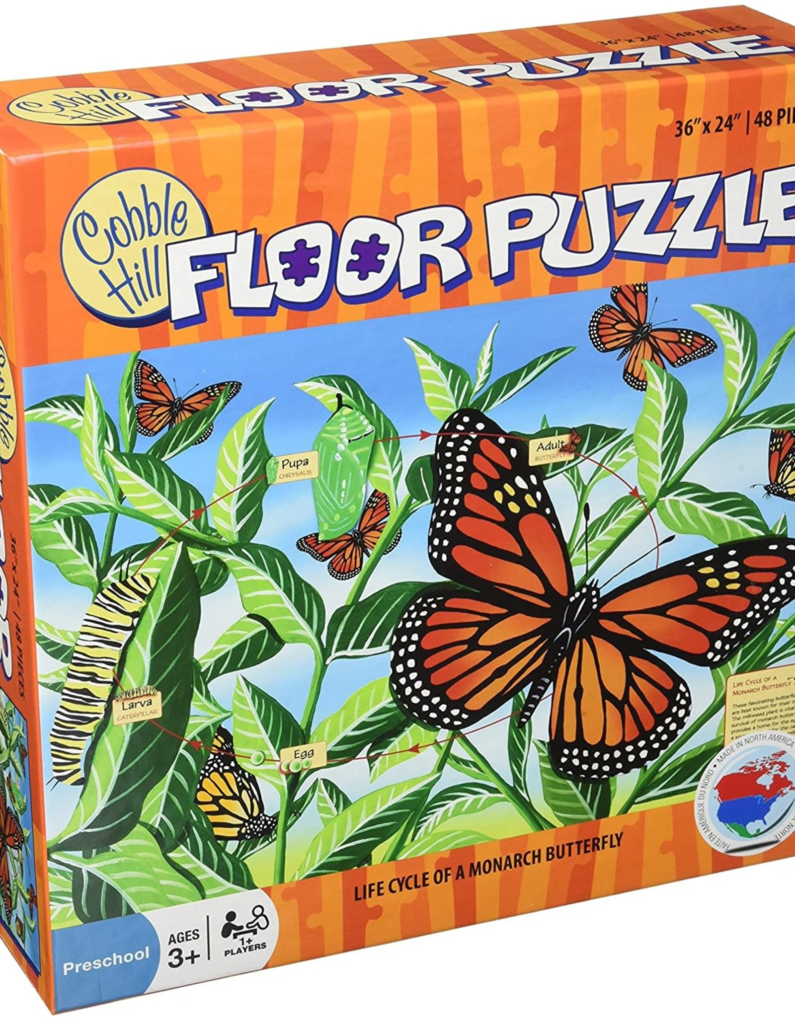Cobble Hill Puzzles Life Cycle Of A Monarch Butterfly - 48pc Floor Puzzle