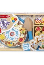 Melissa & Doug Melissa & Doug Wooden Birthday Cake Play Set