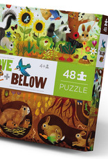 Crocodile Creek Crocodile Creek 48pc Above & Below Backyard Puzzle