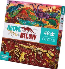 Crocodile Creek Crocodile Creek 48pc Above & Below Dinosaur World Puzzle