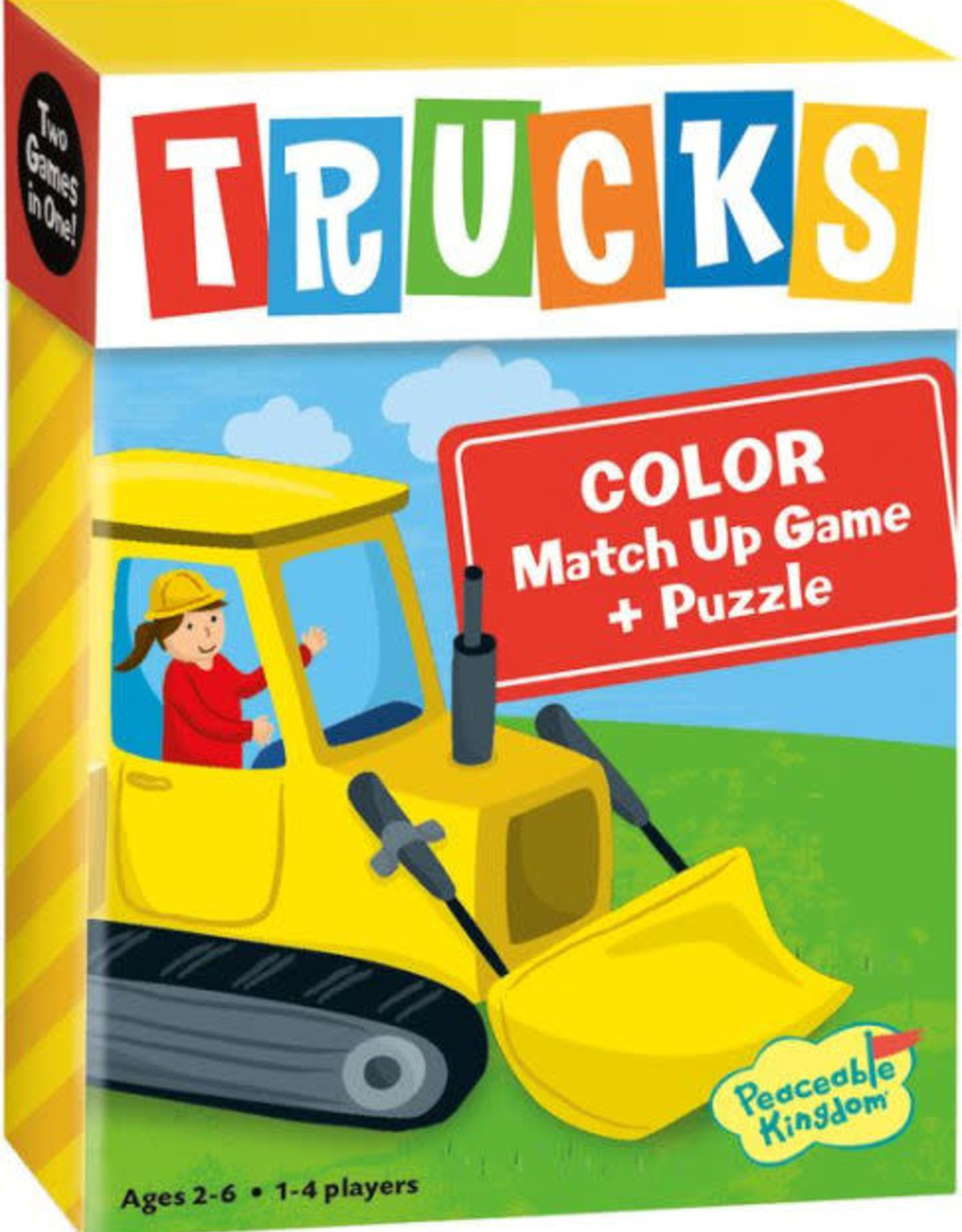 Peaceable Kingdom Trucks Color Match Up Game