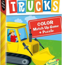Peaceable Kingdom Trucks Color Match Up Game