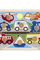 Melissa & Doug Melissa & Doug Jumbo Knob Puzzle - Vehicles