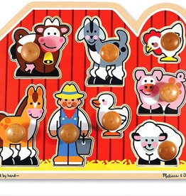 Melissa & Doug Melissa & Doug Farm Friends Large Peg Puzzle