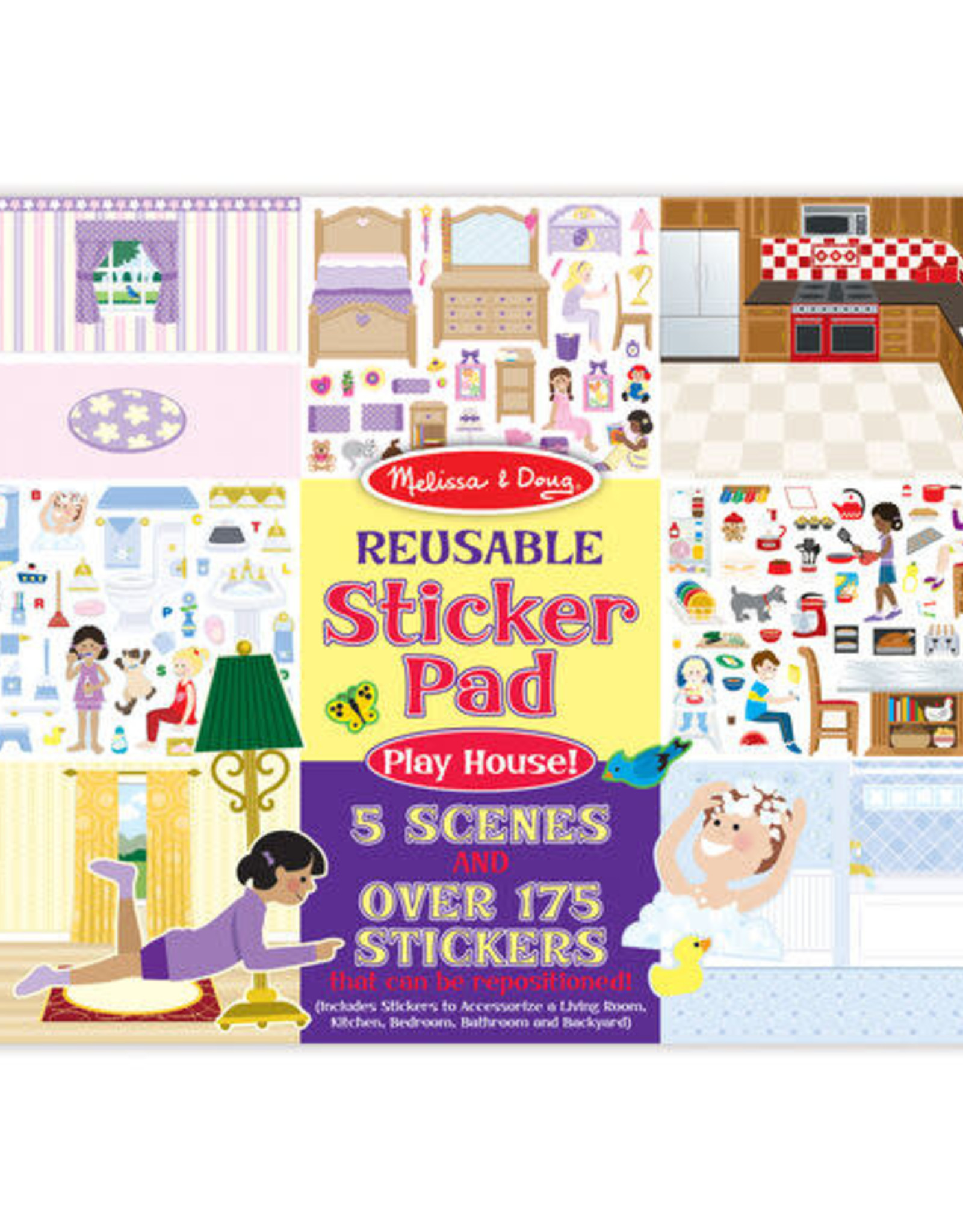 Melissa & Doug Melissa & Doug Reusable Sticker Pad - Play House