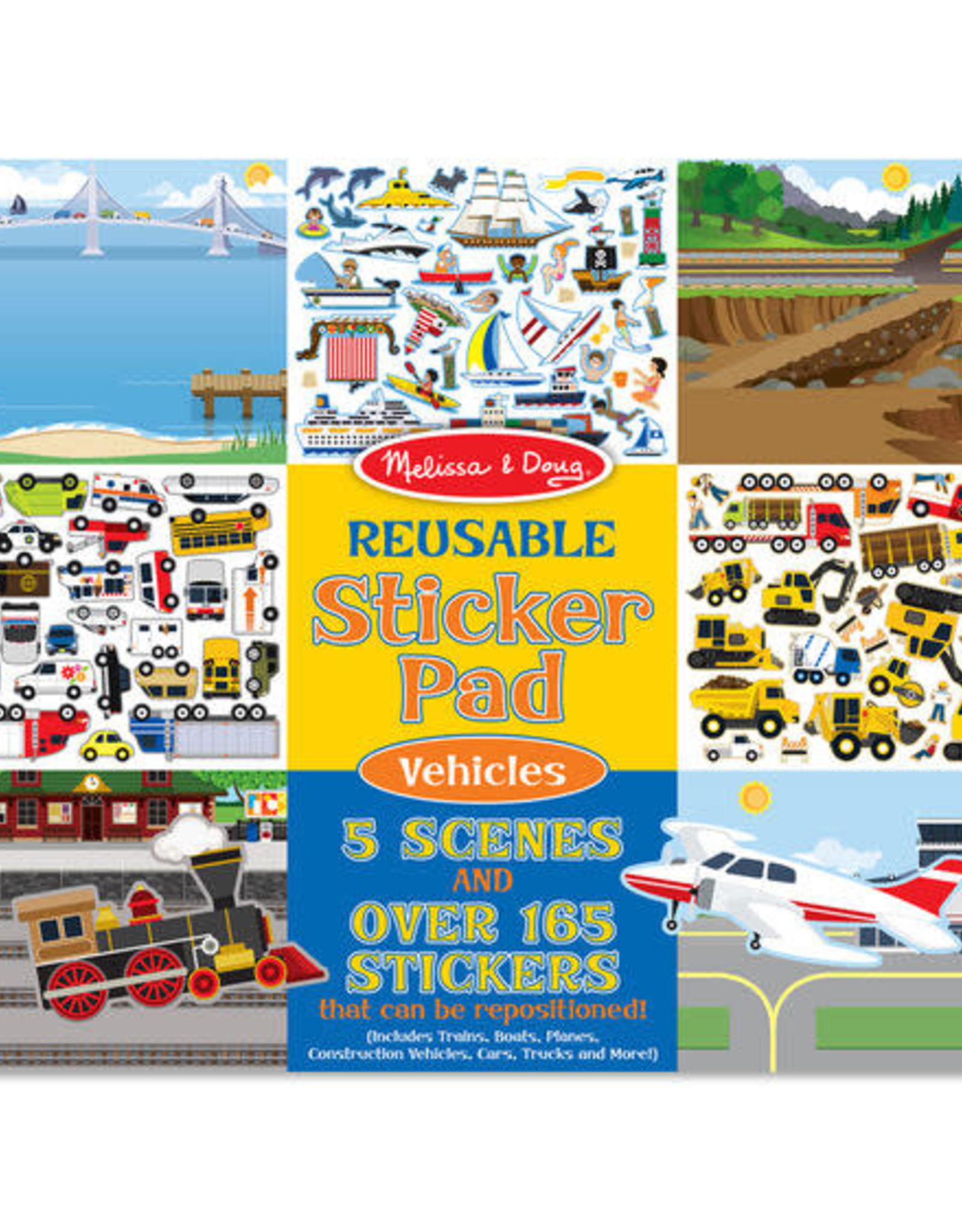 Melissa & Doug Melissa & Doug Reusable Sticker Pad - Vehicles