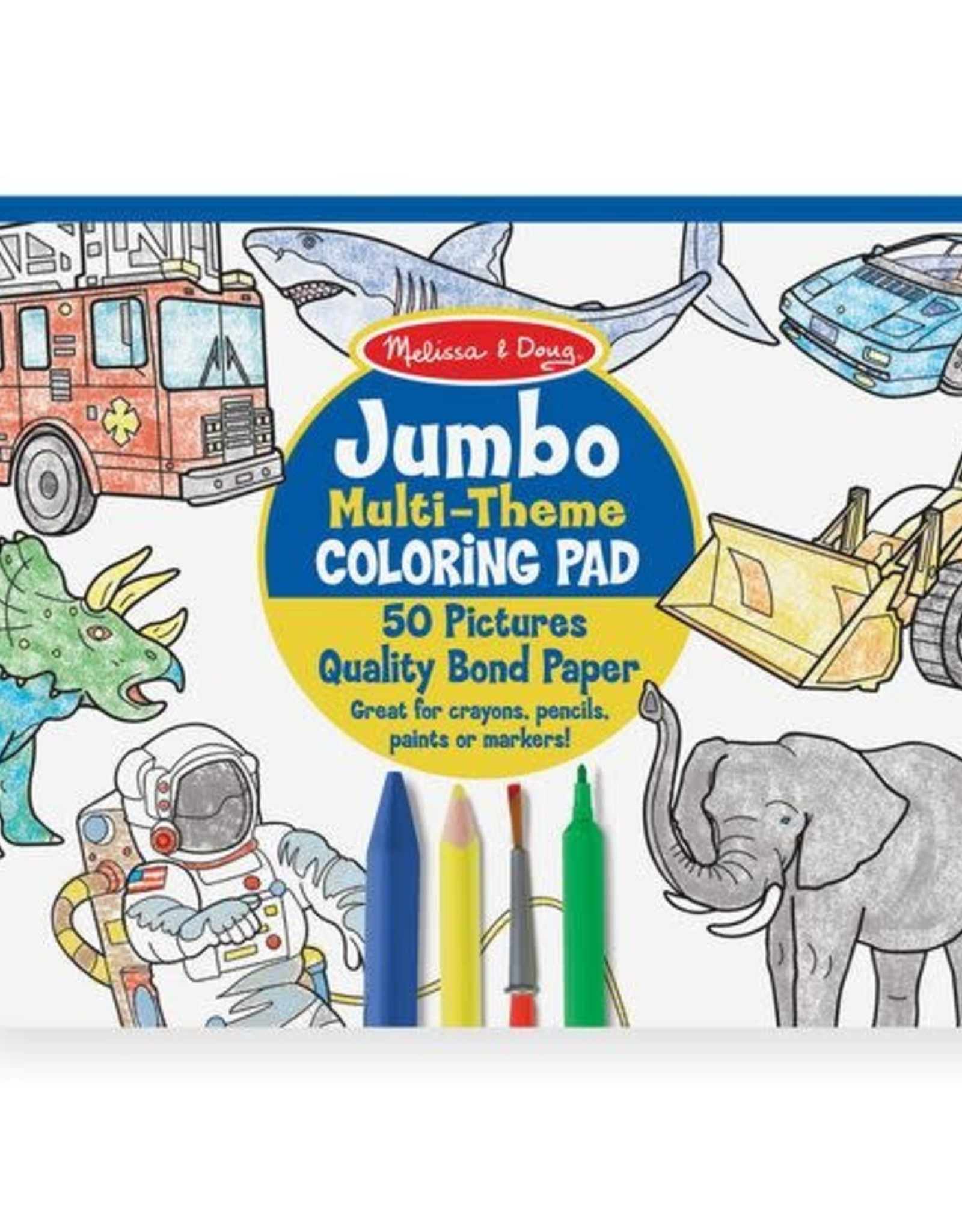 Melissa & Doug Melissa & Doug Jumbo Colouring Pad - Space, Sharks, Sports