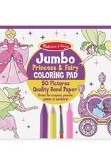 Melissa & Doug Melissa & Doug Jumbo Colouring Pad - Princess & Fairy