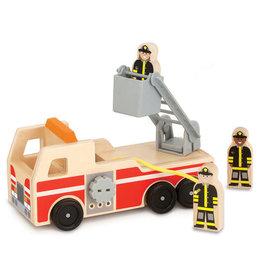 Melissa & Doug Melissa & Doug Wooden Fire Truck Play Set