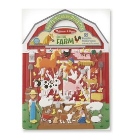 Melissa & Doug Melissa & Doug Reusable Puffy Stickers - Farm