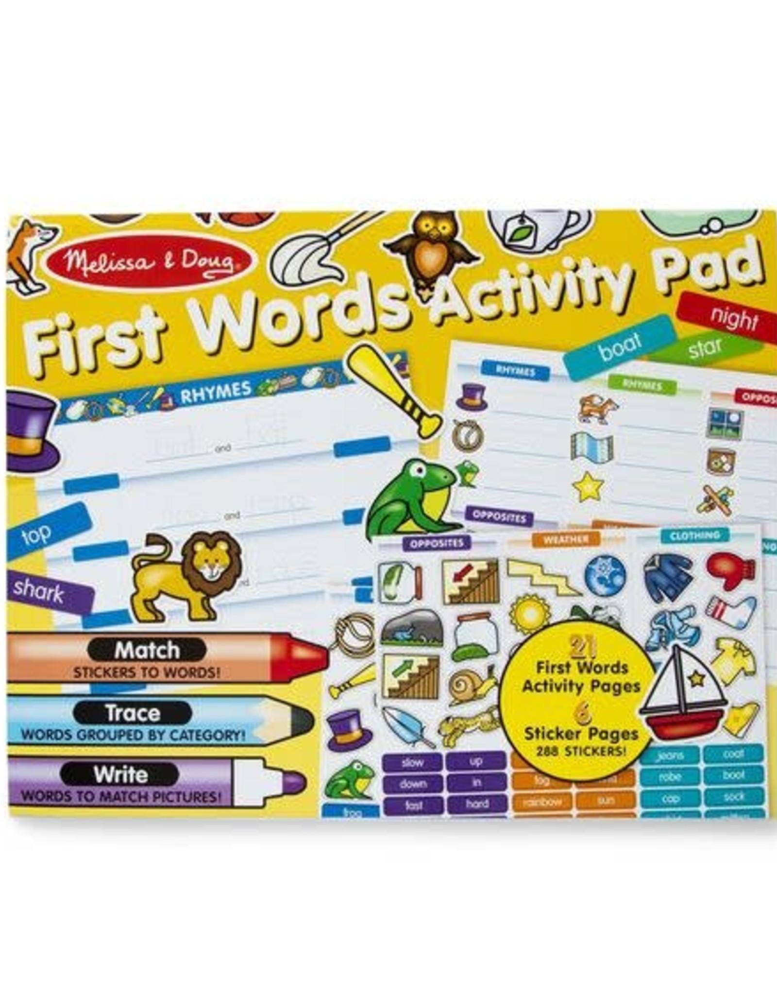 Melissa & Doug Melissa & Doug First Words Activity Pad