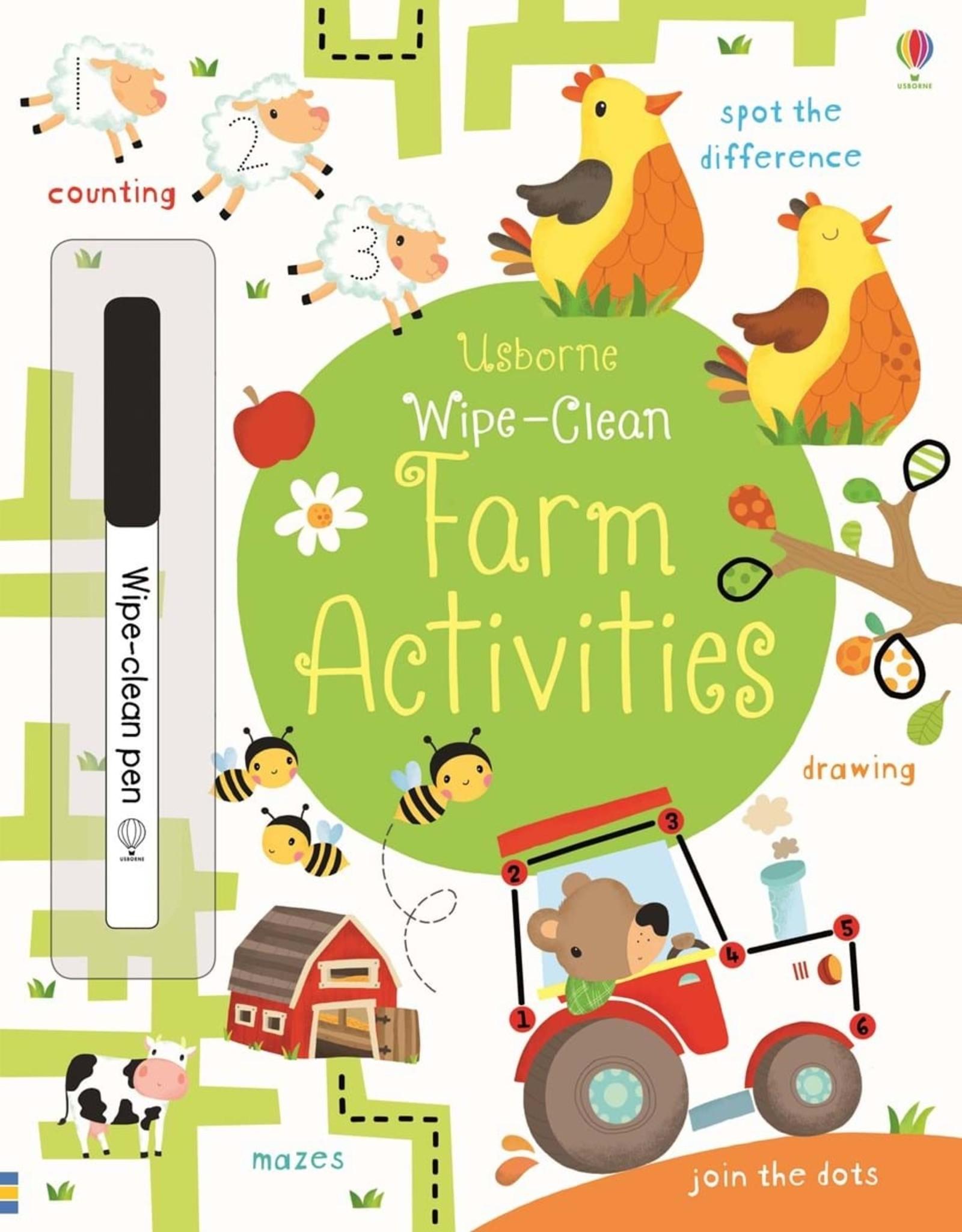 Usborne Usborne Wipe-Clean Farm Activities