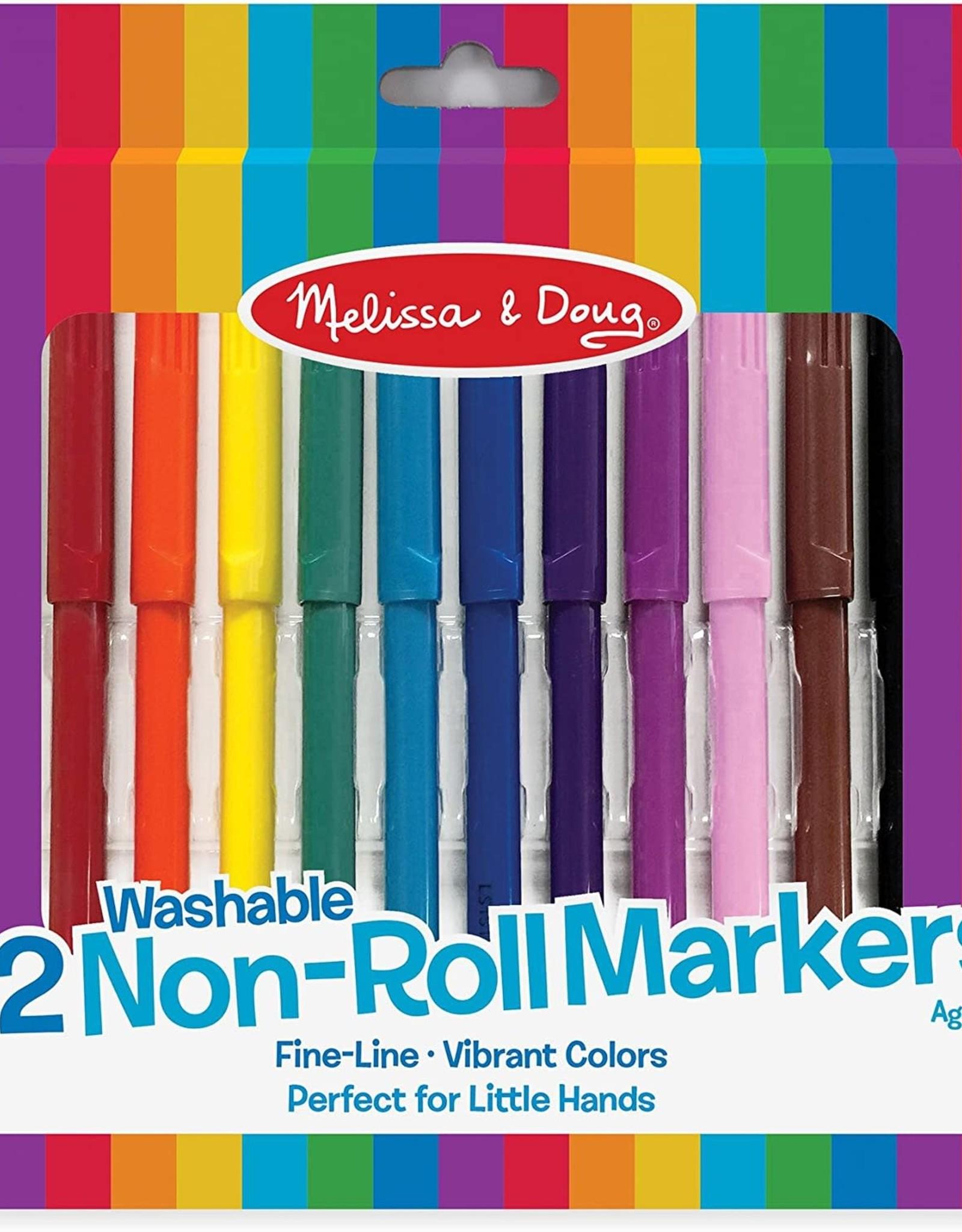 Melissa & Doug Melissa & Doug 12 Washable Non-Roll Markers