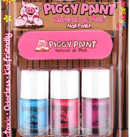 Piggy Paint Piggy Paint 3 Pack Nail Polish w/ Nail File - Forever Fancy, Seaquin, Girls Rule