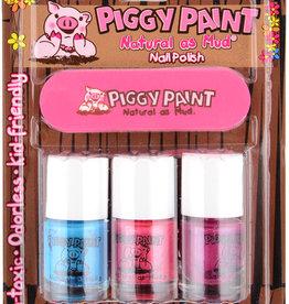 Piggy Paint Piggy Paint 3 Pack Nail Polish w/ Nail File - Forever Fancy, Seaquin, Girls Rule