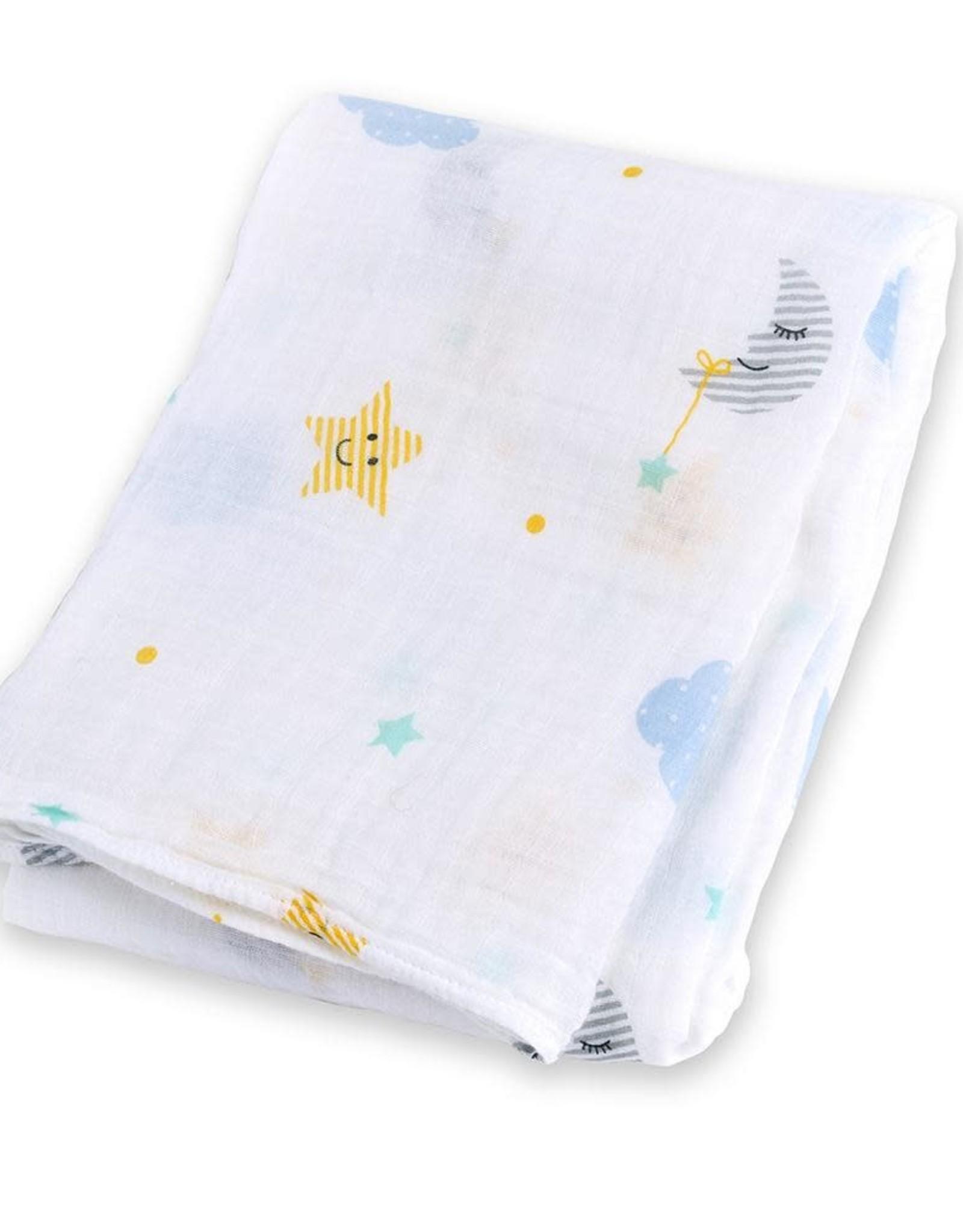 Lulujo Lulujo Muslin Swaddle Blanket - Dreamland