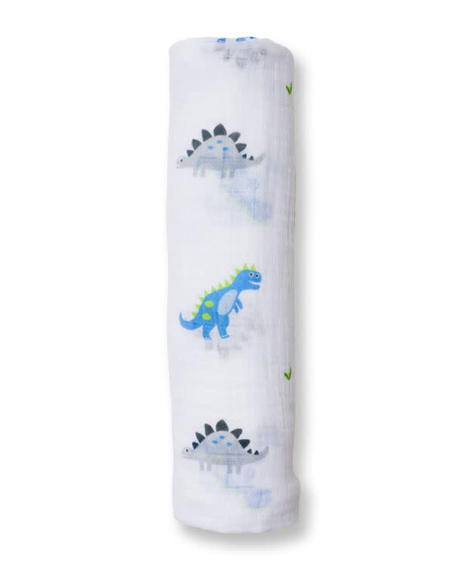 Lulujo Lulujo Muslin Swaddle Blanket - Prehistoric Pals