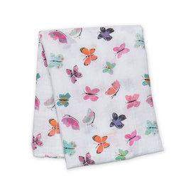 Lulujo Lulujo Muslin Swaddle Blanket - Butterfly