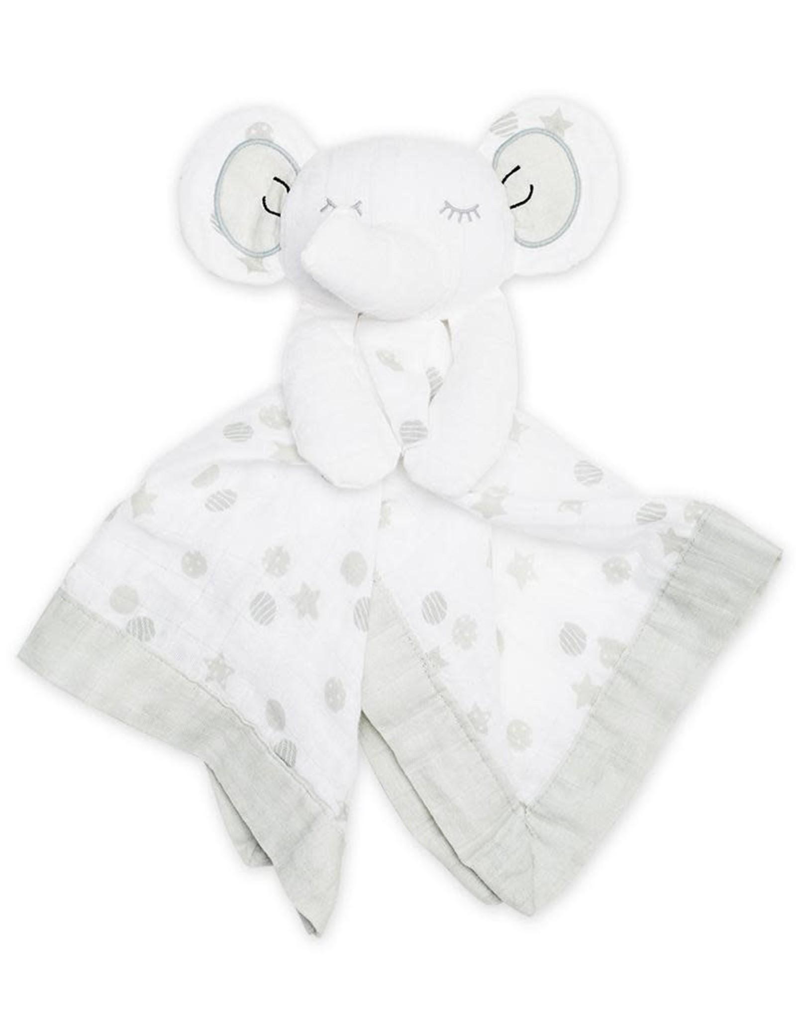 Lulujo Lulujo Muslin Cotton Lovie - Elephant