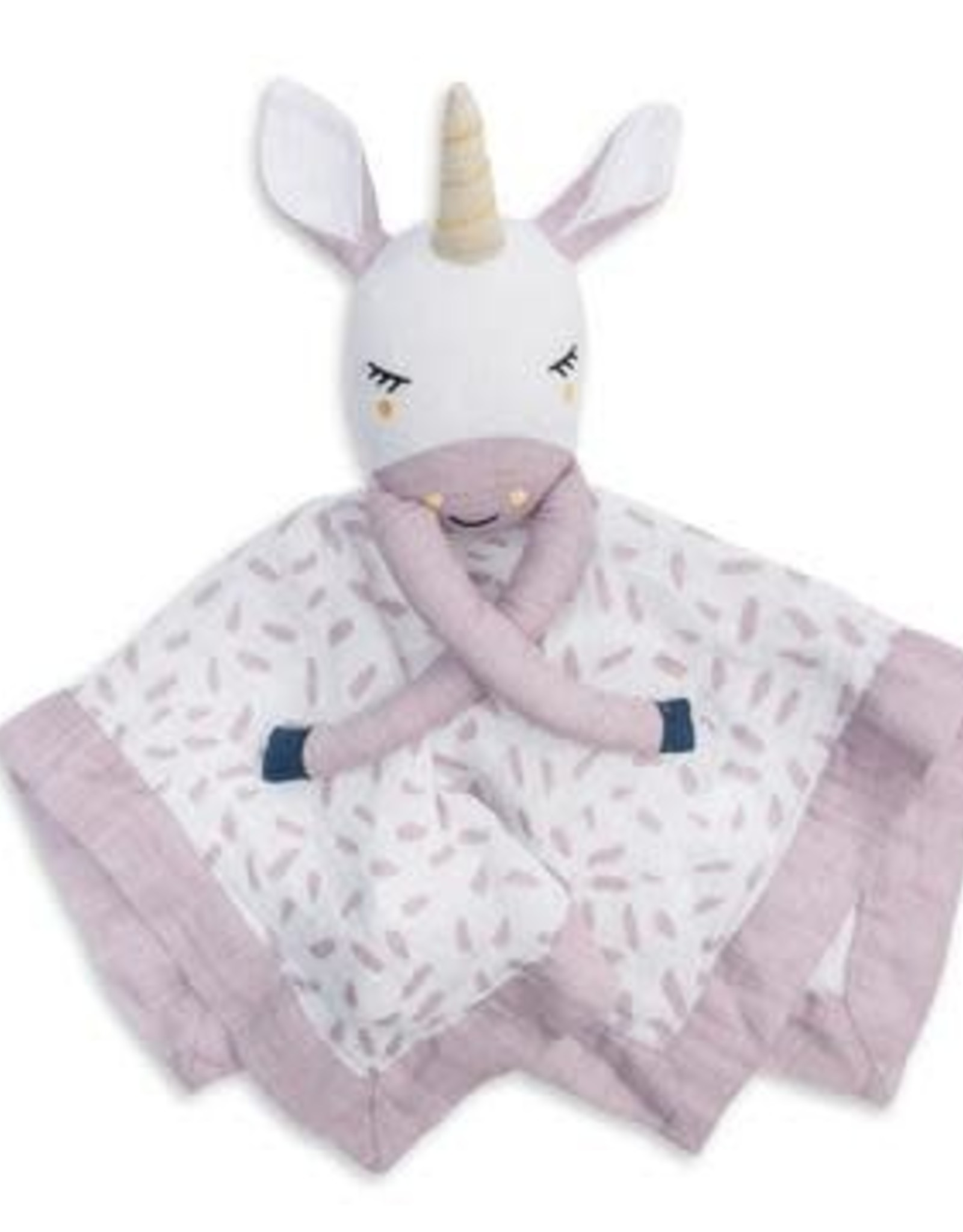 Lulujo Lulujo Muslin Cotton Lovie - Unicorn