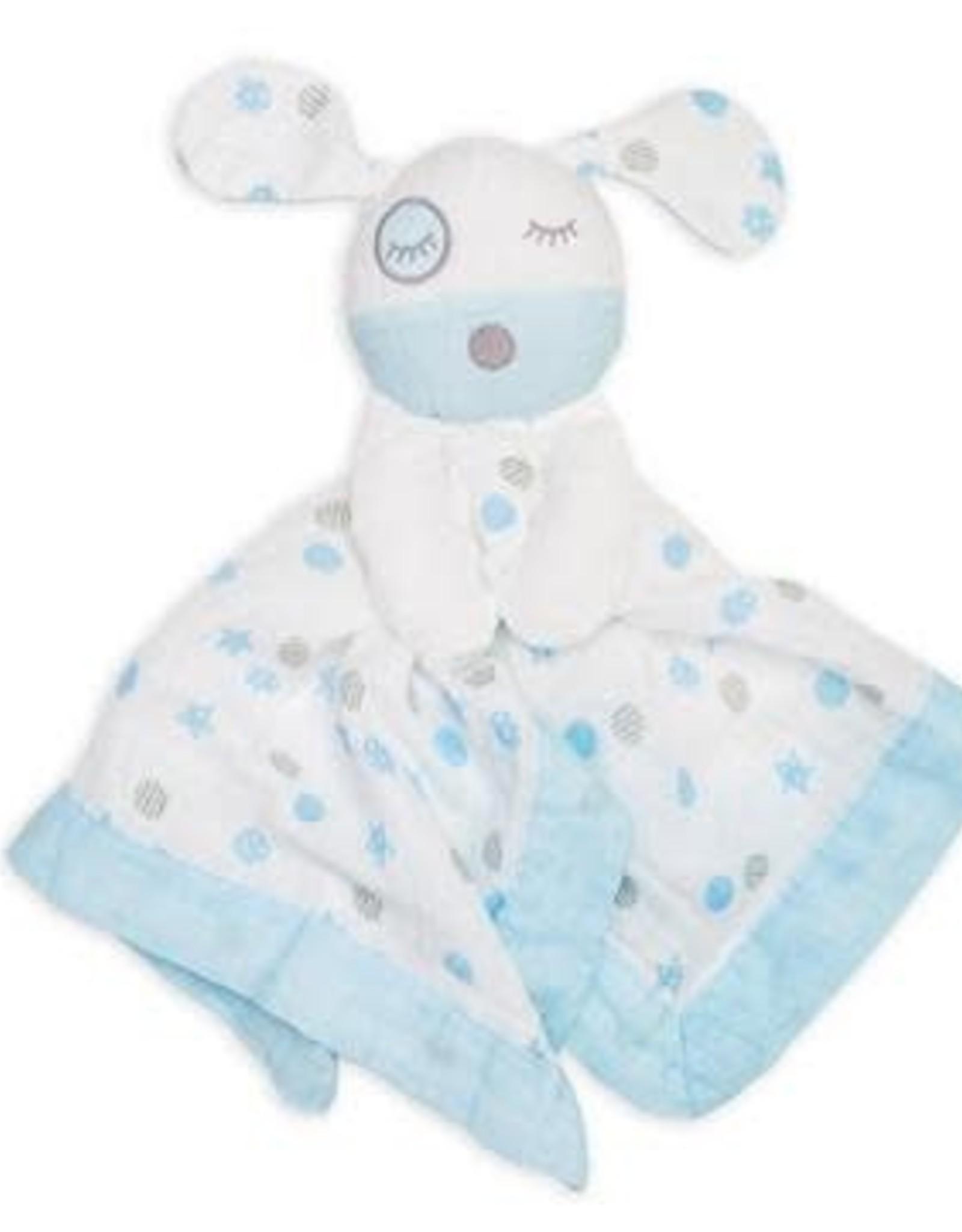 Lulujo Lulujo Muslin Cotton Lovie - Blue Puppy