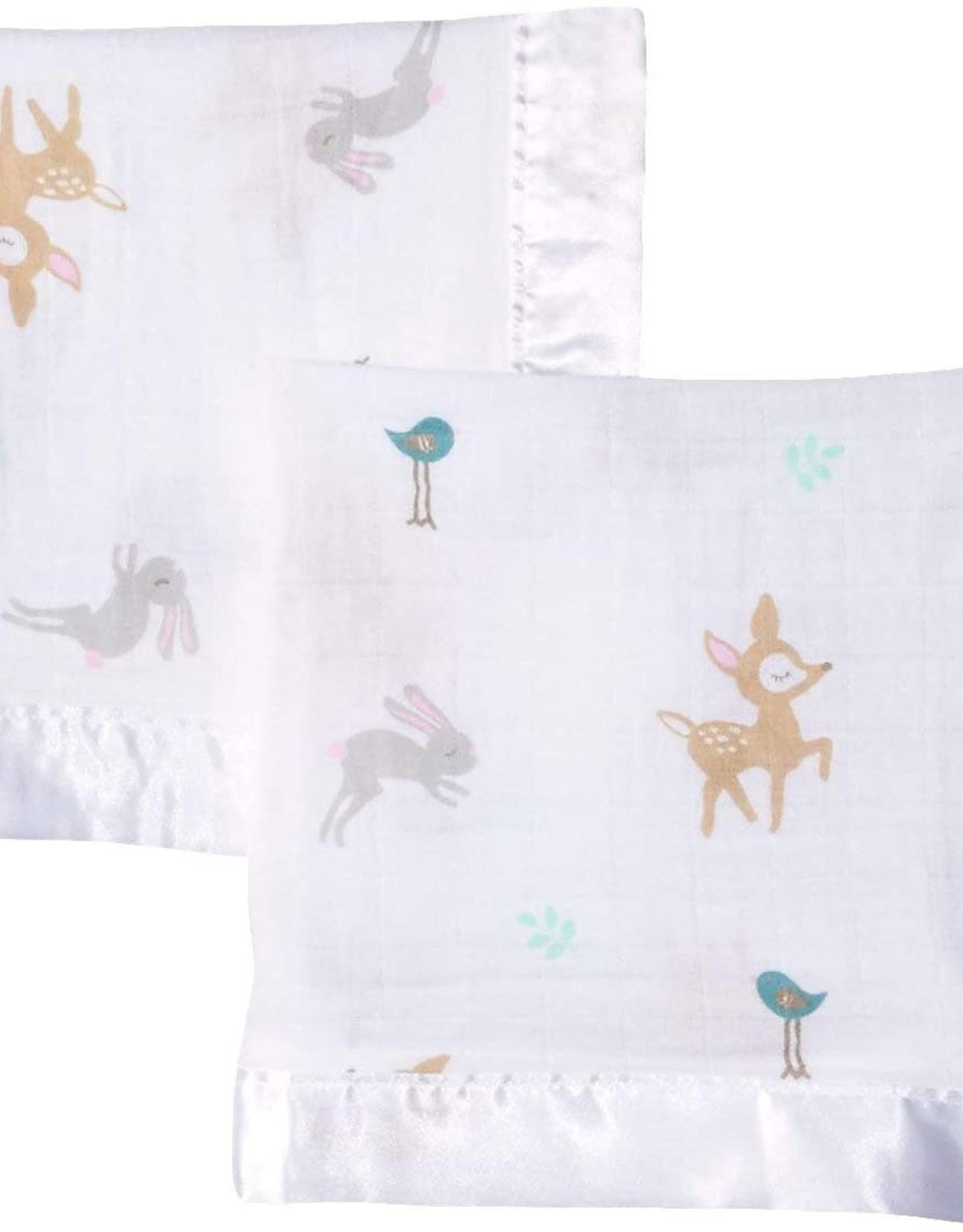 Lulujo Lulujo Muslin Cotton Security Blankets - Little Fawn