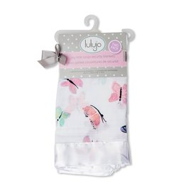 Lulujo Lulujo Muslin Cotton Security Blankets - Butterfly