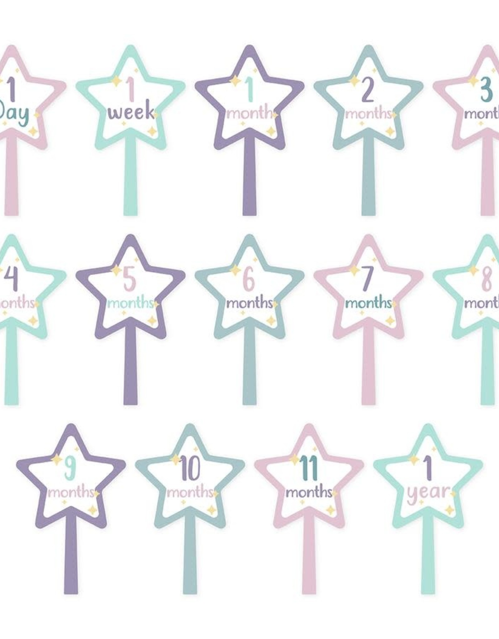 Lulujo Lulujo Baby's First Year Milestone Stickers - Something Magical