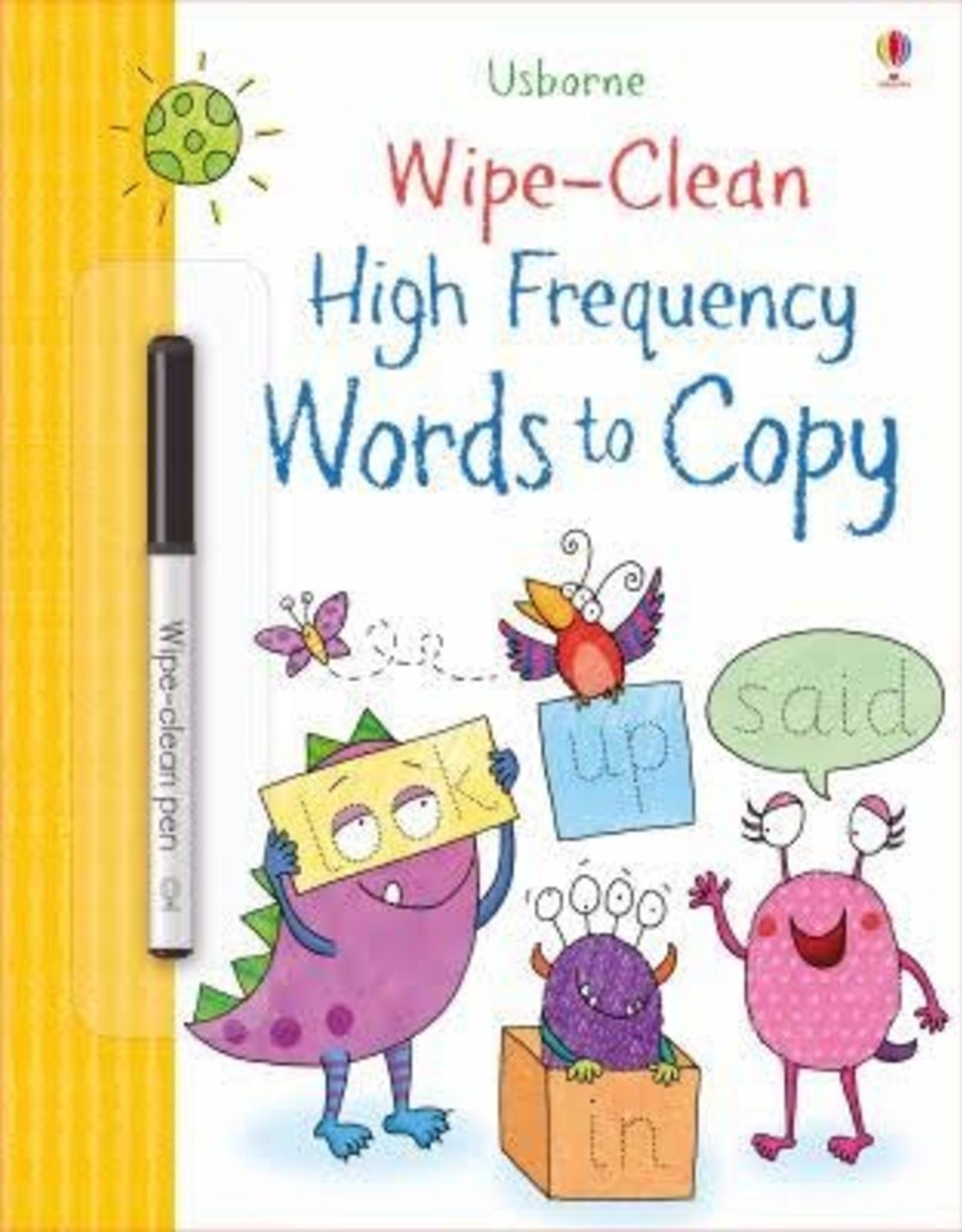 Usborne Usborne Wipe-Clean High Frequency Word to Copy