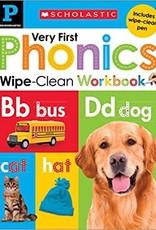 Scholastic Very First Phonics Pre-K Wipe Clean Workbook