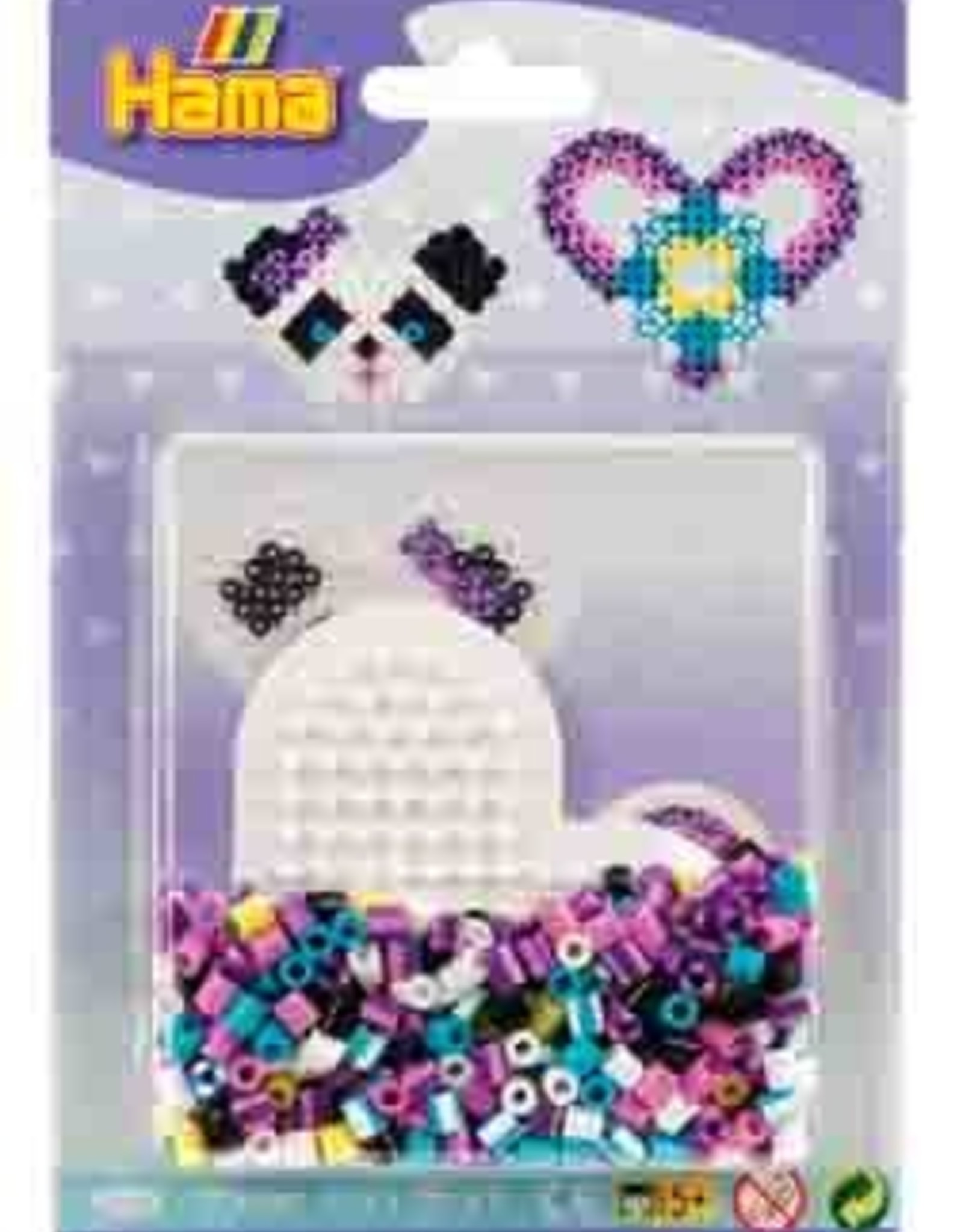Hama Hama Bead Mini Set - Heart / Panda