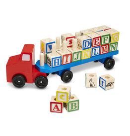 Melissa & Doug Melissa & Doug Alphabet Blocks Wooden Truck