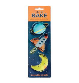Crocodile Creek Let's Bake Cookie Cutter Set - Space