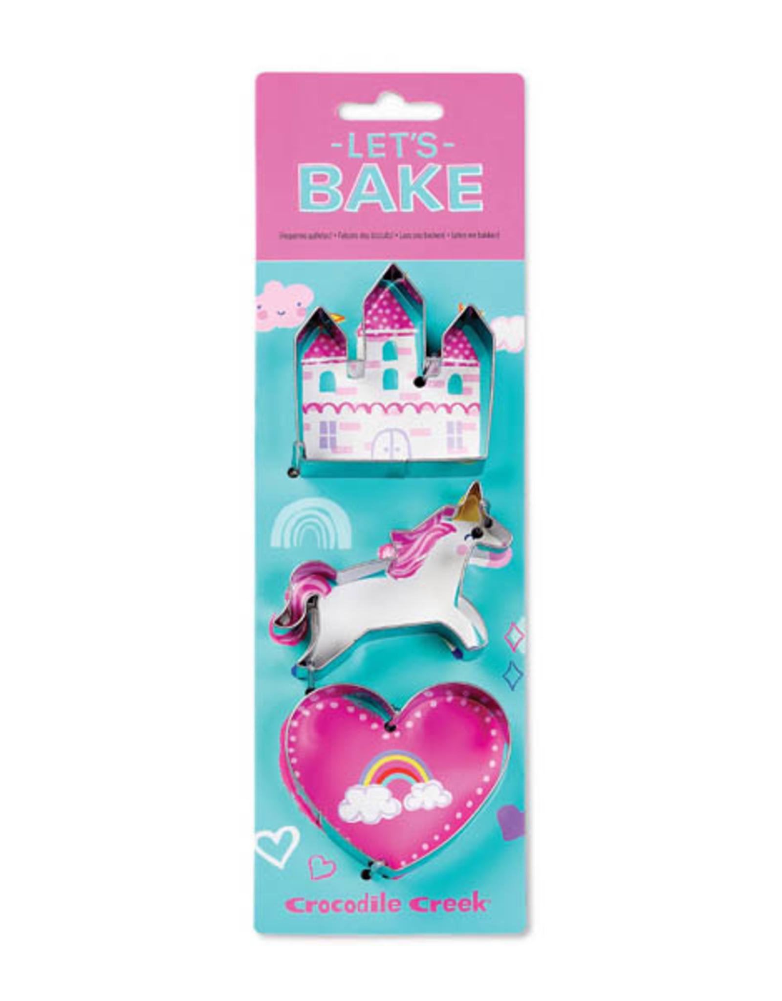 Crocodile Creek Let's Bake Cookie Cutter Set - Unicorn