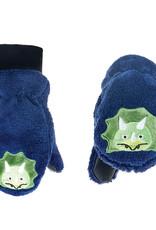 FlapJackKids FlapJackKids Fleece Mitts - Blue Dinosaur