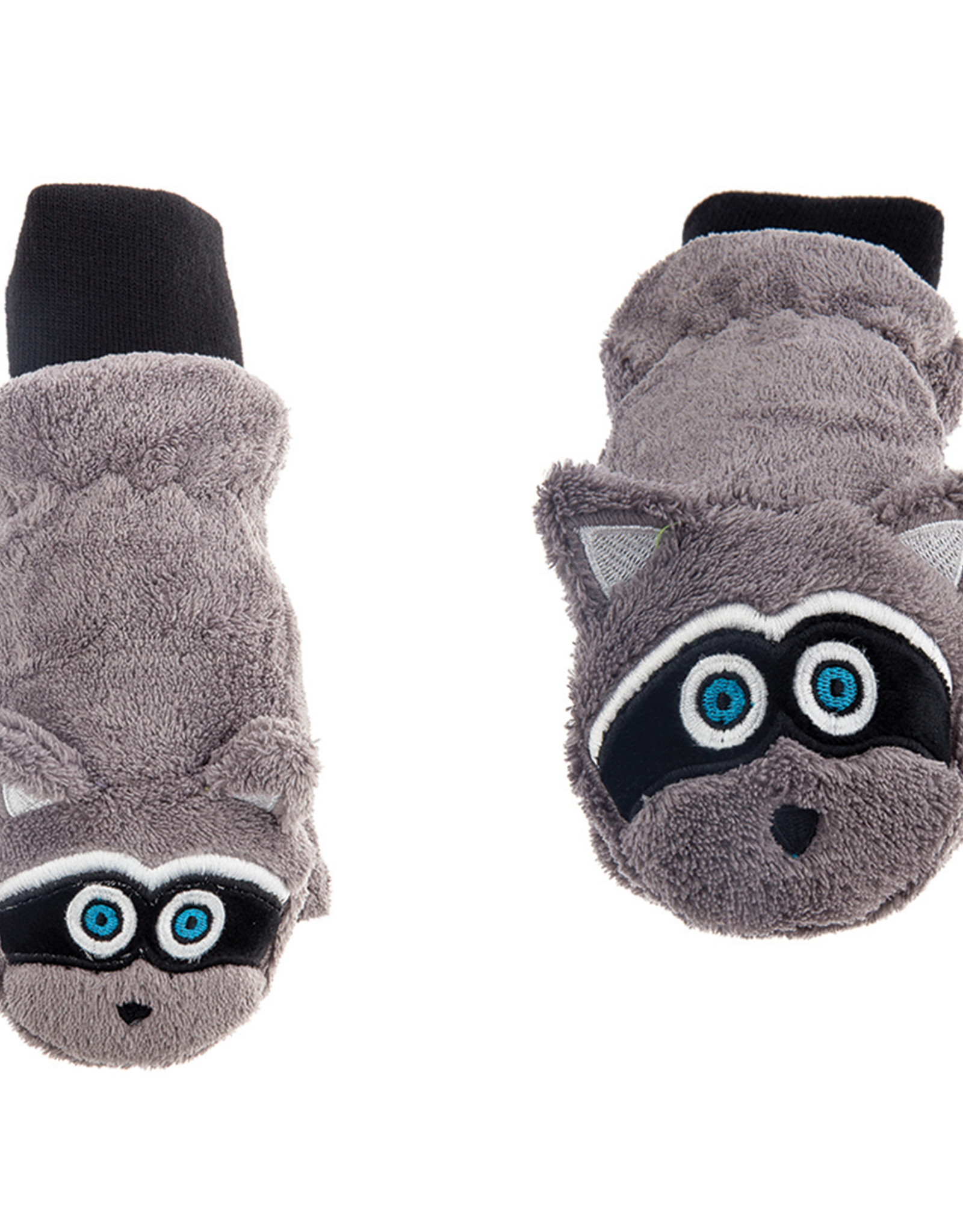 FlapJackKids FlapJackKids Fleece Mitts - Raccoon