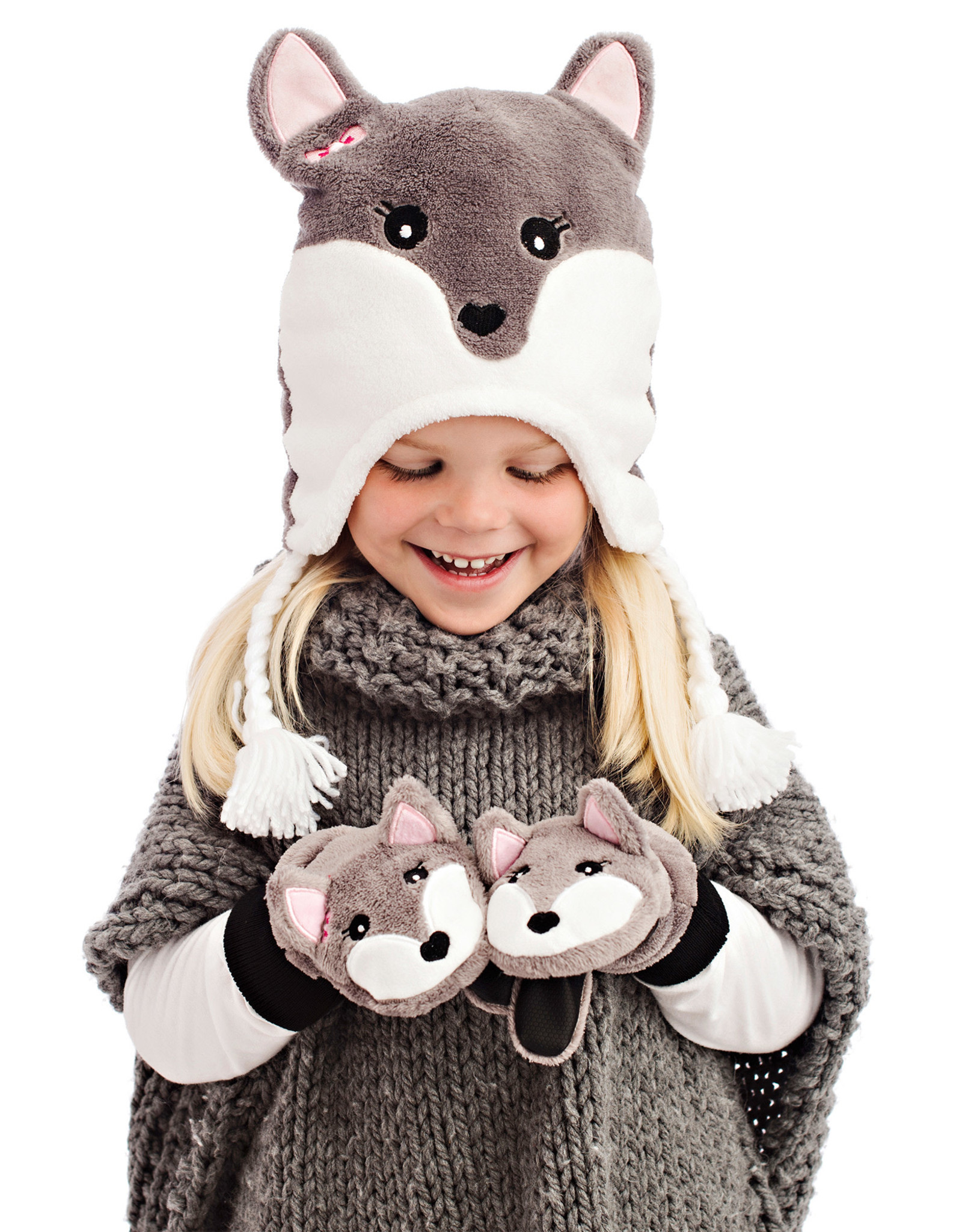 FlapJackKids FlapJackKids Fleece Mitts - Arctic Fox
