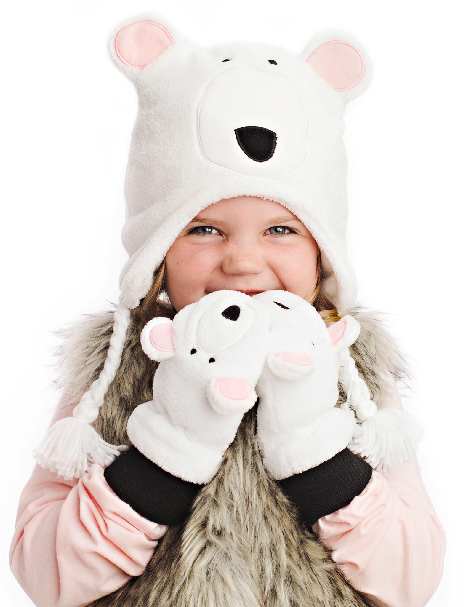 FlapJackKids FlapJackKids Fleece Mitts - Polar Bear