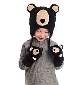 FlapJackKids FlapJackKids Fleece Mitts - Black Bear