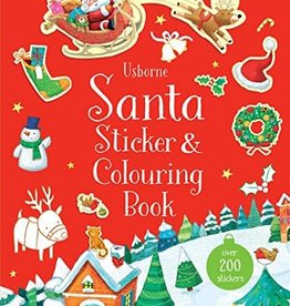 Usborne Usborne Santa Sticker & Colouring Book