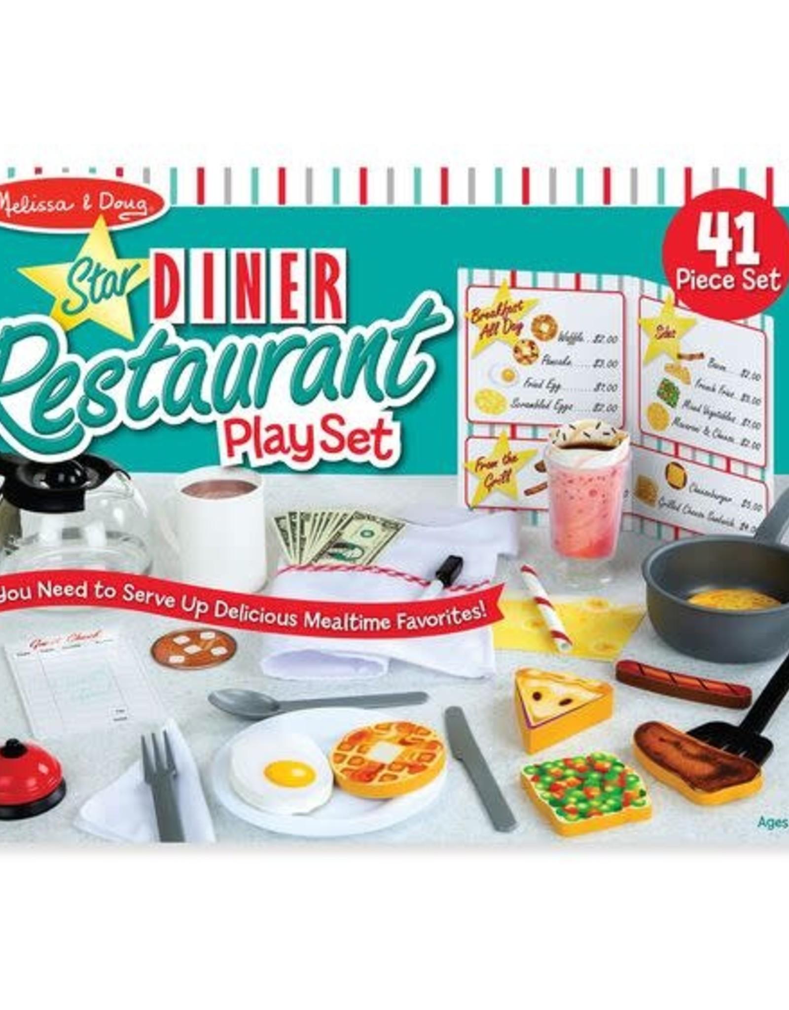 Melissa & Doug Melissa & Doug Star Diner Restaurant Play Set
