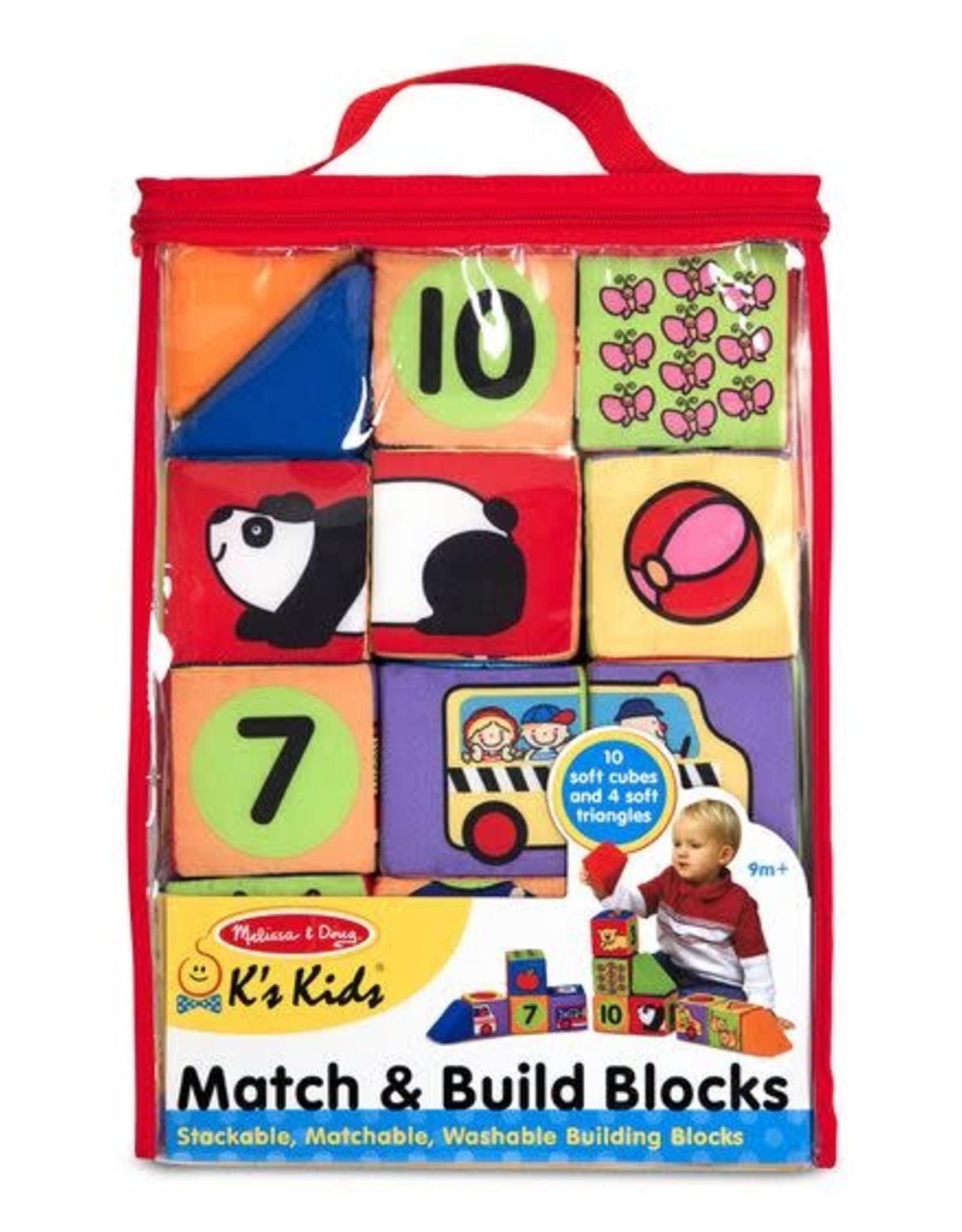 Melissa & Doug Melissa & Doug Match and Build Blocks