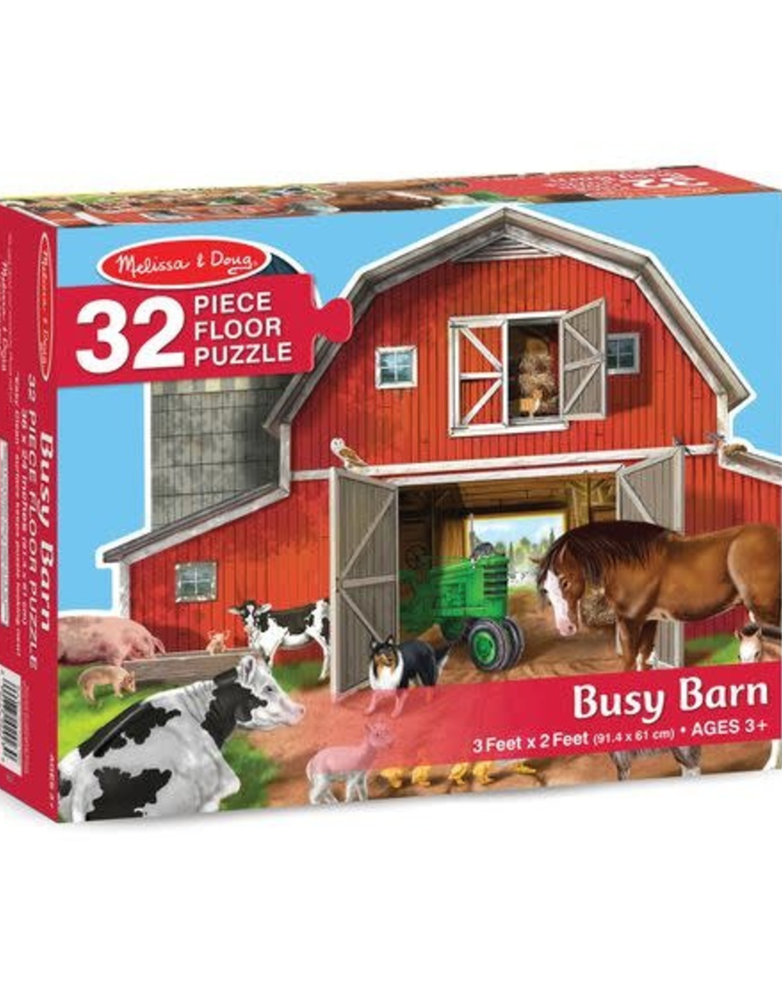 Melissa & Doug Melissa & Doug Busy Barn 32pc Floor Puzzle