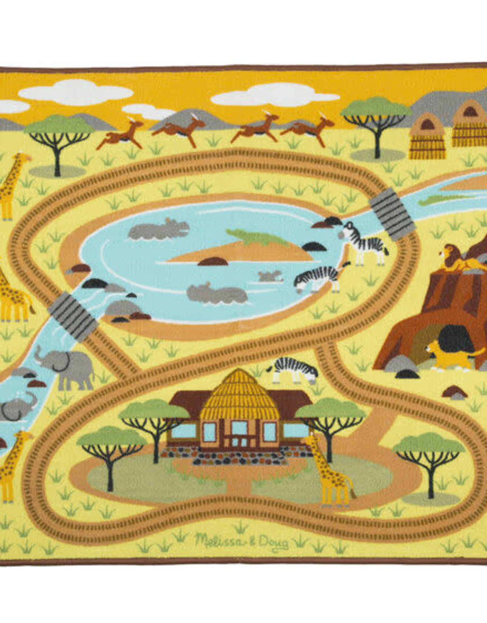 Melissa & Doug Melissa & Doug  Round the Savannah Safari Rug