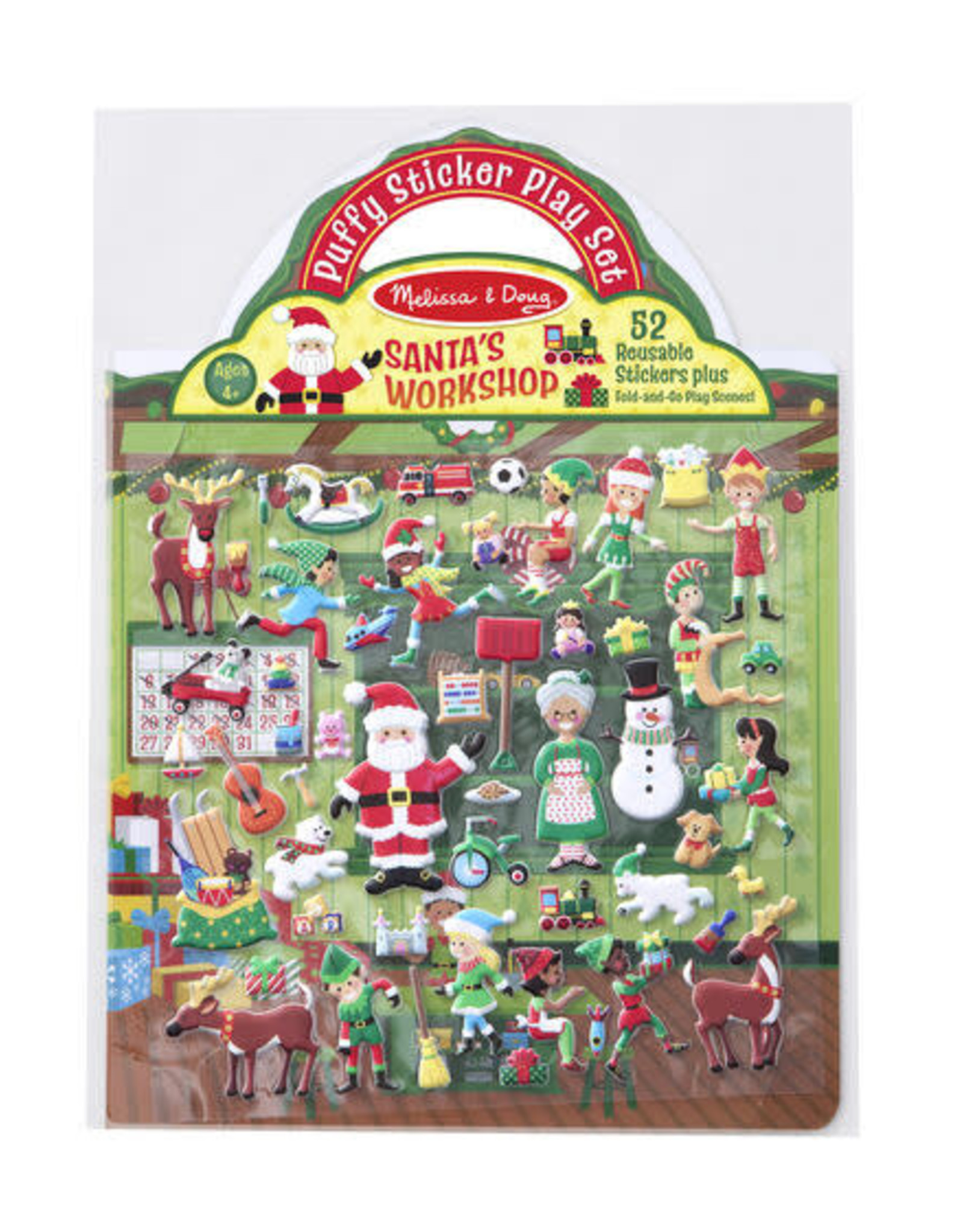 Melissa & Doug Melissa & Doug Reusable Puffy Stickers - Santa's Workshop